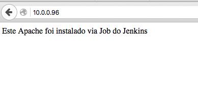 Apache Teste Jenkins